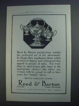 1913 Reed & Barton Silver Ad - Perfected Art - $14.99