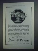 1913 Reed & Barton Silver Ad - Perfected Art - $14.99