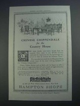 1913 The Grand Rapids Furniture Ad, Chinese Chippendale - $14.99