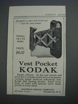 1913 Vest Pocket Kodak Camera Ad - Small as Note Book - $14.99