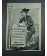 1915 Pond's Vanishing Cream Ad - Before Going Away - $14.99