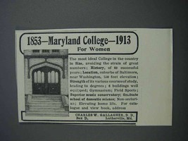 1913 Maryland College for Women Ad - $14.99