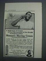 1913 Mennens Shaving Cream Ad - Half Inch of Cream - $14.99