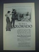 1913 Rock Island Lines Ad - Our Party in Colorado - $14.99