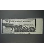 1913 St. John's Military Academy Ad - My Pride - $14.99