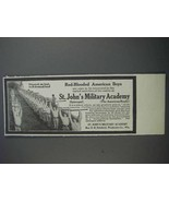 1913 St. John's Military Academy Ad - Red-Blooded Boys - $14.99