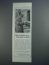 1915 Eastman Kodak Ad - Recod Autographic - Authentic - $14.99
