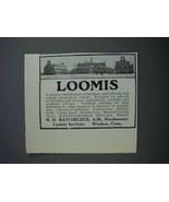 1915 Loomis Institute Ad - $14.99