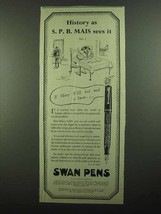 1939 Swan Visofil Pen Ad - History as S.P.B. Mais - $14.99