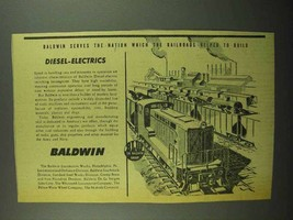 1942 Baldwin Diesel-Electric Switching Locomotives Ad - $14.99