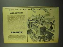 1942 Baldwin Diesel-Electric Switching Locomotives Ad - $14.99