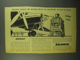 1942 Baldwin Locomotive Southwark Ad - Aircraft - $14.99