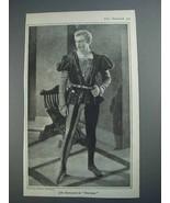 1926 John Barrymore Illustration - in Don Juan - $14.99