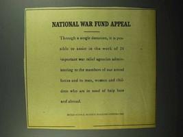 1943 IBM Ad - National War Fund Appeal - $14.99