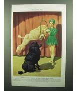 1943 Standard Poodle Illustration by Walter A. Weber - $14.99