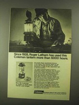 1968 Coleman Lantern Ad - Used More than 6000 Hours - $14.99