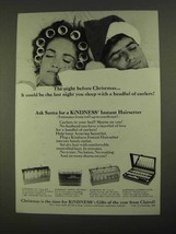 1968 Clairol KiNDNESS Instant Hairsetter Ad - Christmas - $14.99