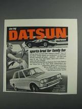1968 Datsun Car Ad - Sports Bred for Family Fun - $14.99