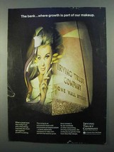 1968 Irving Trust Company Ad - Growth is Part of Makeup - $14.99