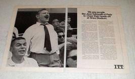 1968 ITT Program for International Manager Exchange Ad - $14.99