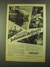 1968 Johnson Sea-Horse Outboard Ad - 1-1/2, 3, 6, 9-1/2 - $14.99