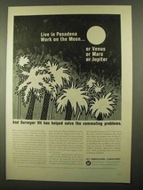 1968 Jet Propulsion Laboratory Ad - Live in Pasadena - $14.99