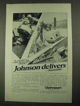 1968 Johnson Sea-Horse Outboard Ad - V-85, 65, V-100 - $14.99