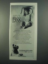 1968 Kansas City Life Ad - Class of 1988 - $14.99