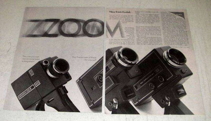 Primary image for 1968 Kodak Movie Camera Ad - M20, M7, M9