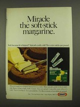 1968 Kraft Whipped Miracle Margarine Ad - Soft-Stick - $14.99