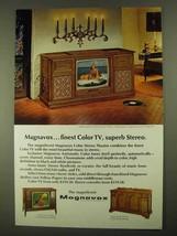 1968 Magnavox Mediterranean Color Stereo Theatre Ad - $14.99