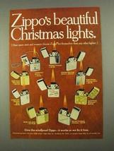 1968 Zippo Cigarette Lighters Ad - Christmas Lights - $14.99