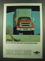1969 Chevrolet Series 70 Truck Ad - Chevy Diesel - $14.99