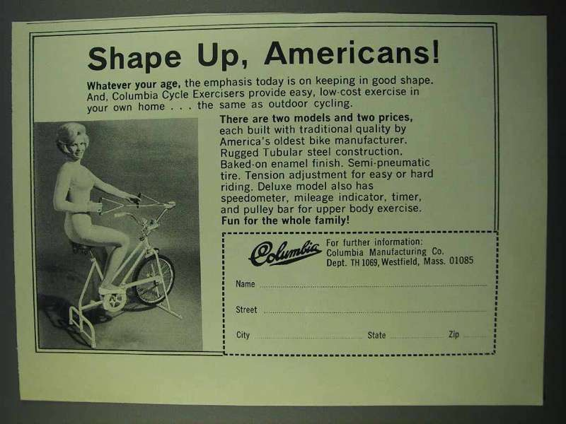 1969 Columbia Cycle Exercisers Ad - Shape Up - $14.99