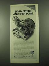 1969 Kodak Instamatic M95 Movie Projector Ad - Speeds - $14.99