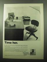 1969 Kodak Recordak Microfilm Systems Ad - Time Her - $14.99