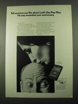 1969 Lark Cigarettes Ad - May Remember Your Anniversary - $14.99