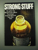 1969 Listerine Antiseptic Ad - Strong Stuff - $14.99