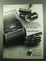 1969 Remington Lektroblade Shaver Ad - Disposable - $14.99