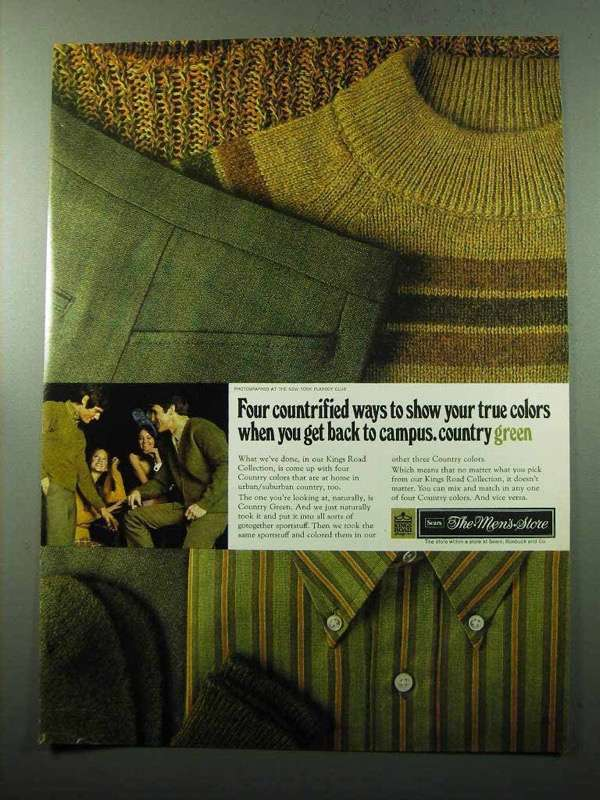 Primary image for 1969 Sears King's Road Collection Ad - Country Green