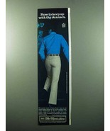 1969 Sears Perma-Prest Jeans Ad - Keep up With Jeanses - $14.99