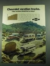 1972 Chevrolet Trucks Ad - Vacation Trucks - $14.99