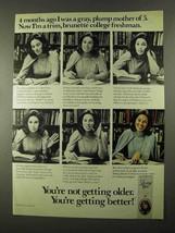 1974 Clairol Loving Care Hair Color Ad - Trim, Brunette - $14.99