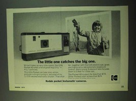 1975 Kodak Instamatic 40 Camera Ad - Catches Big One - $14.99