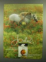 1981 Revlon Jontue Perfume Ad - Sensual Innocence - $14.99