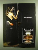 1981 Revlon Scoundrel Perfume Ad - Seize the Moment - $14.99