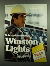 1981 Winston Lights Cigarettes Ad - Does it Better - $14.99
