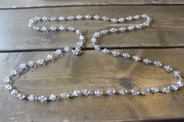 Heavy Faux Crystal Bead Necklace 52 inches - $17.81