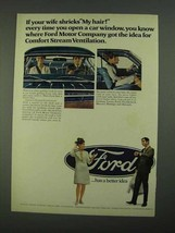 1968 Ford Motors Ad - If Your Wife Shrieks My Hair - $14.99