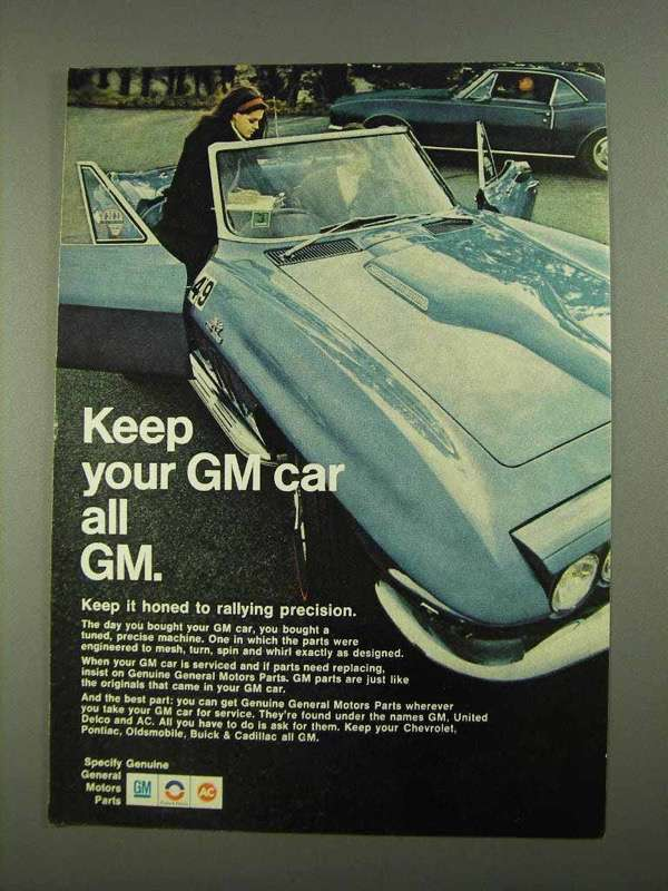 1968 General Motors Parts Ad - Keep Your Car All GM - $14.99